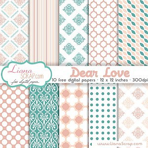 Free digital paper pack – Dear Love Set
