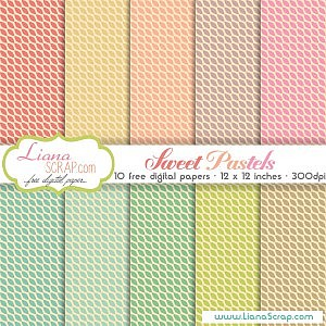 Free digital paper pack – Sweet Pastels Set