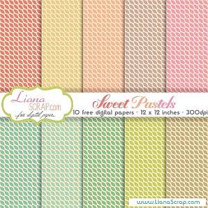 Free digital paper pack – Sweet Pastels Set