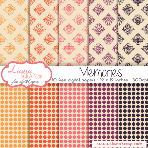 Free digital paper pack – Memories Set