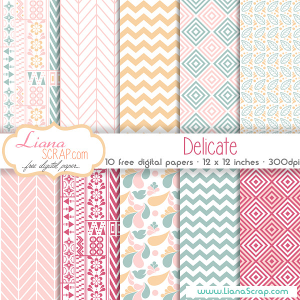 Free digital paper pack – Delicate Set