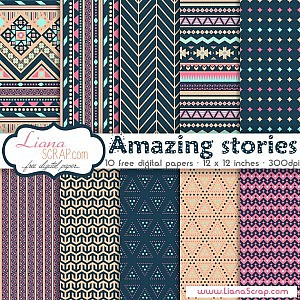 Free digital paper pack – Amazing stories Set
