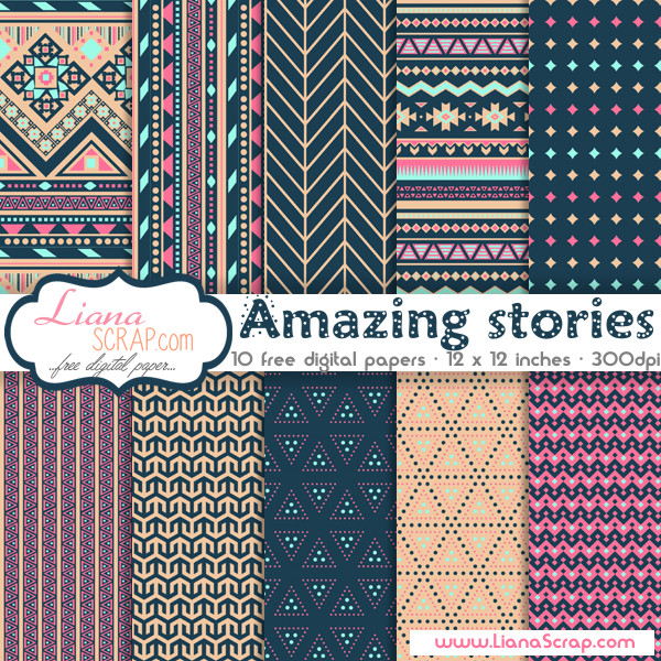 Free digital paper pack – Amazing stories Set