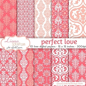 Free digital paper pack – Perfect Love Set
