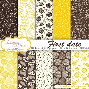 Free digital paper pack – First Date Set