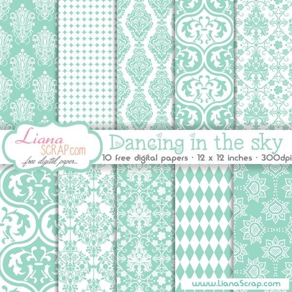 Free digital paper pack – Dancing In The Sky Set - LianaScrap