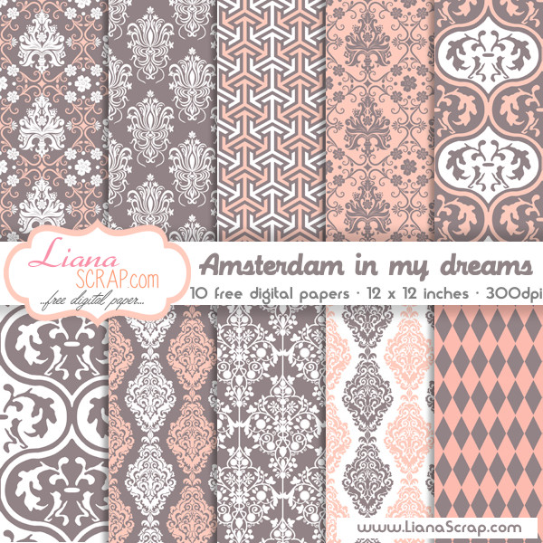 Free digital paper pack – Amsterdam In My Dreams Set