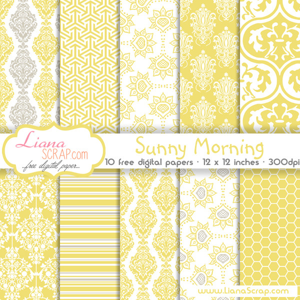 free digital paper pack sunny morning set